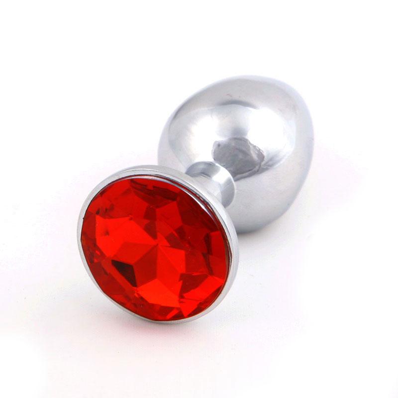 Steel Metal Jeweled Butt Plug Large